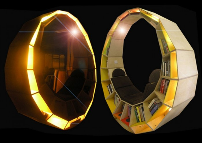 futuristic-design-for-contemporary-home-furniture-style-1 40 Unusual and Creative Bookcases