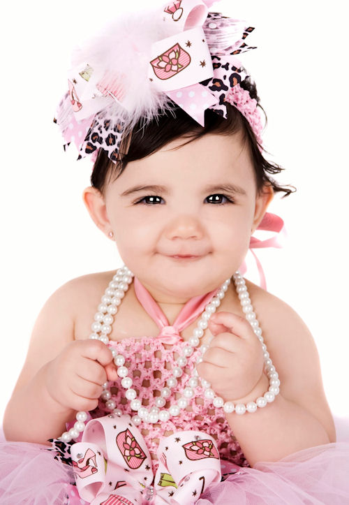 glamourjewelsbowheadband 1st Birthday Dresses For Your Baby Girl