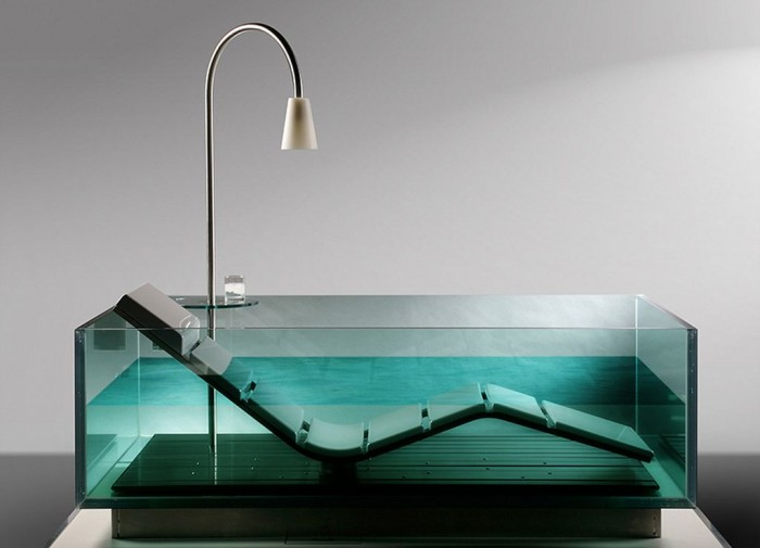 glass-bathtub 25 Creative and Unique Bathtubs for an Elegant Bathroom