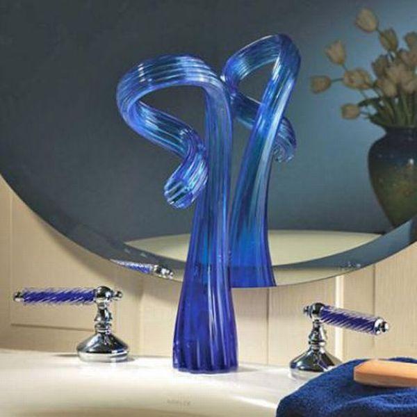 glass_faucet_sduet 40 Breathtaking and Unique Bathroom Faucets