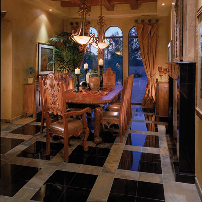 granite_dining 43 Modern And Creative Ideas Of Flooring Designs