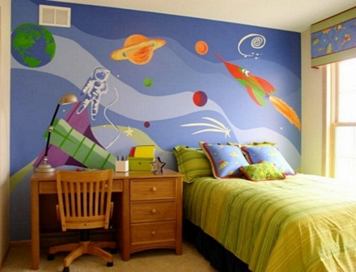 great-design-ideas-kids-bedroom-wallpaper-modern-home Create A Colorful Atmosphere In Your Kids Room By Wallpaper