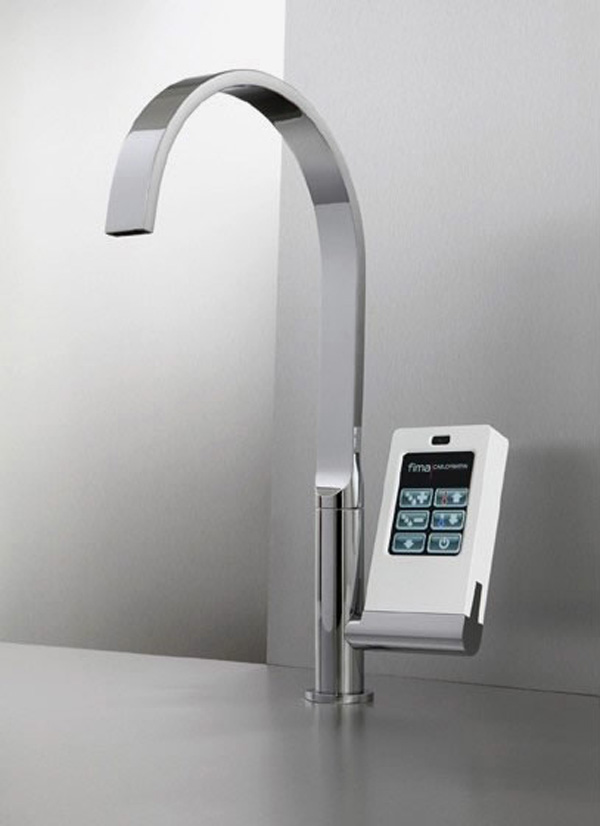 kitchen-faucet-with-touch-screen-1 40 Breathtaking and Unique Bathroom Faucets