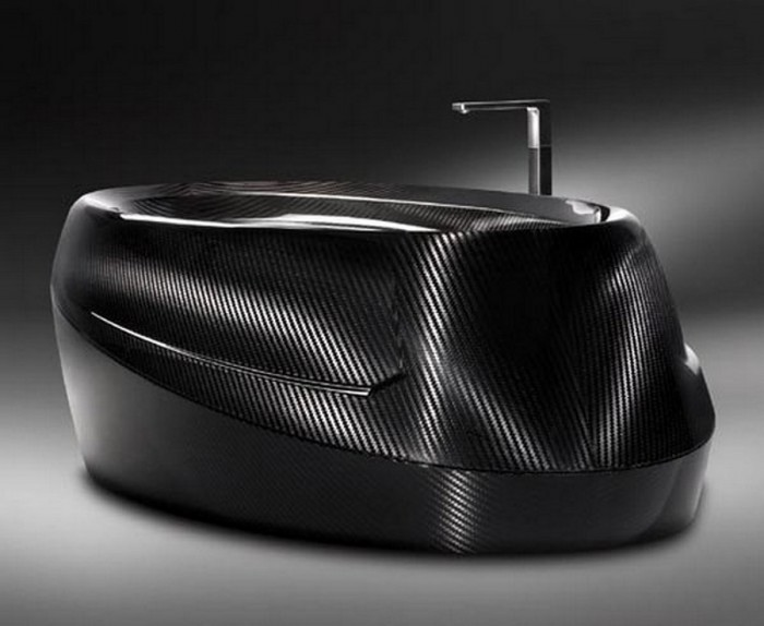 limited-edition-luxurious-carbon-fiber-bathtub-3 25 Creative and Unique Bathtubs for an Elegant Bathroom