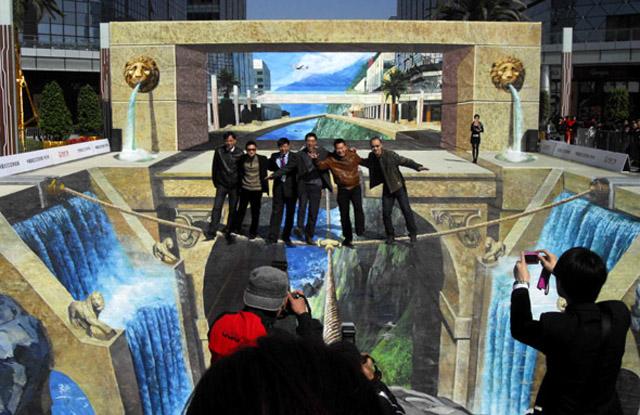 lion 26 Most Stunning 3D Street Art Paintings
