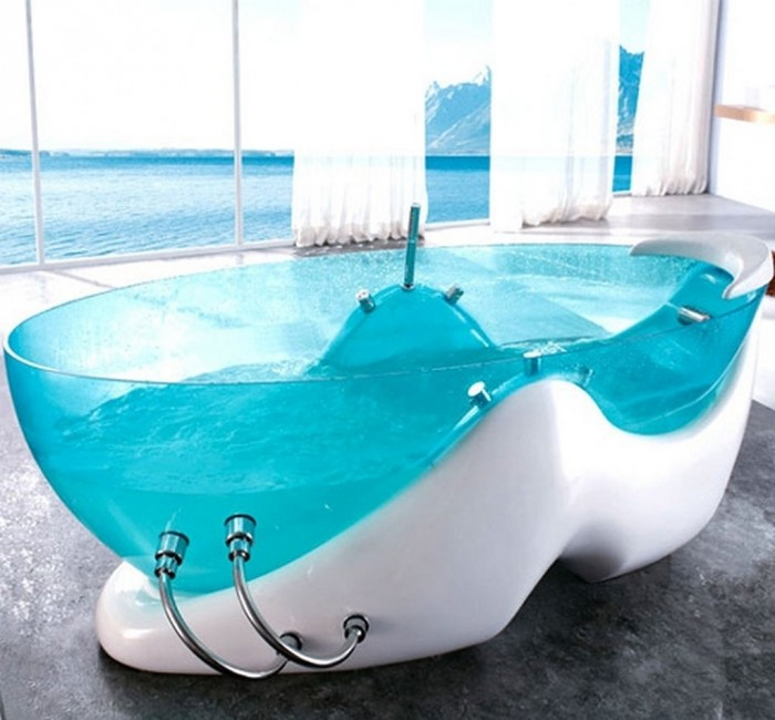 luxury-and-futuristic-design-for-relaxing-Transparent-Bathtub-1 25 Creative and Unique Bathtubs for an Elegant Bathroom
