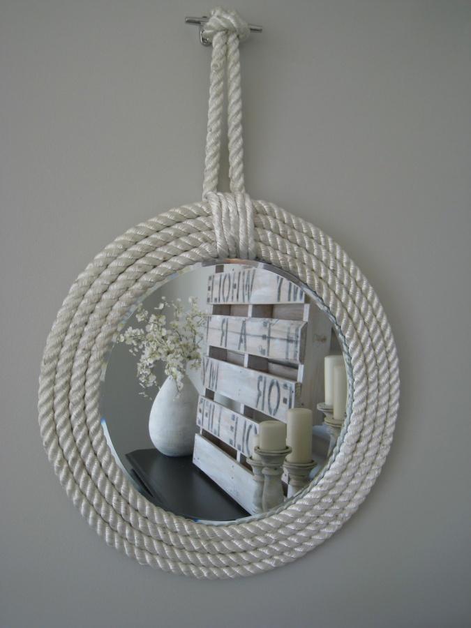 mirrors 25 Creative Rope Decor Design Ideas