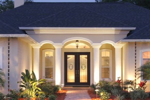 modern-homes-designs-entrance-ideas.-4 23 Designs To Choose From When Deciding On A Front Door