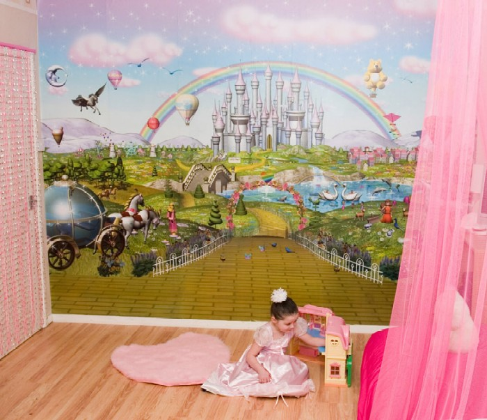 murales_dormitorio_de_ni_os_2 Create A Colorful Atmosphere In Your Kids Room By Wallpaper