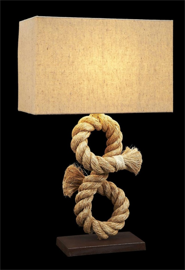 nautical_rope_lamp_ 25 Creative Rope Decor Design Ideas