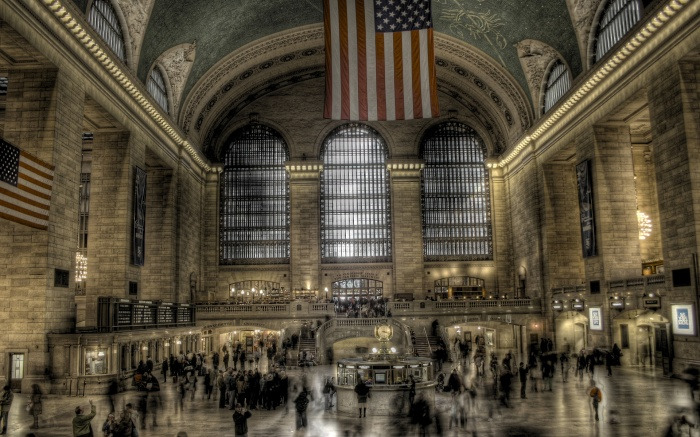 """new-york-city-train-stations-grand-central-terminal-HD-Wallpapers """"New York City"""" Is The Most Populous City In The United States"""