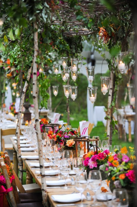 Spring summer outdoor wedding inspiration soundsurge for Garden decoration ideas pictures
