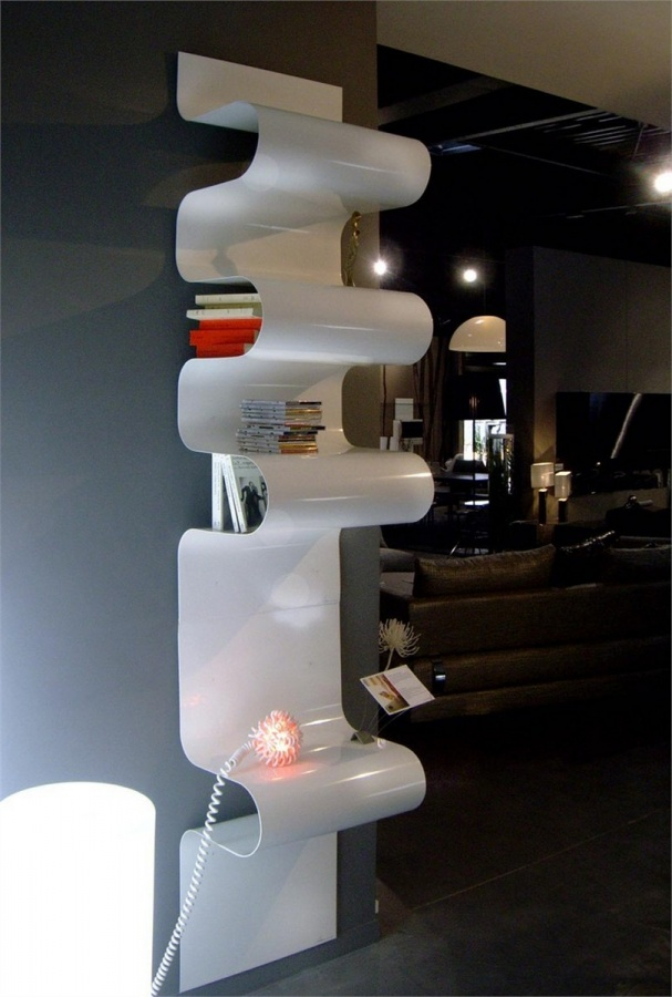 powerful-stylish-bookcase-design-Wave-4 40 Unusual and Creative Bookcases