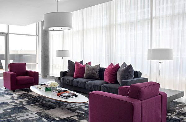 purple-and-grey-living-room-furniture +20 Modern Ideas For LivingRooms Designs
