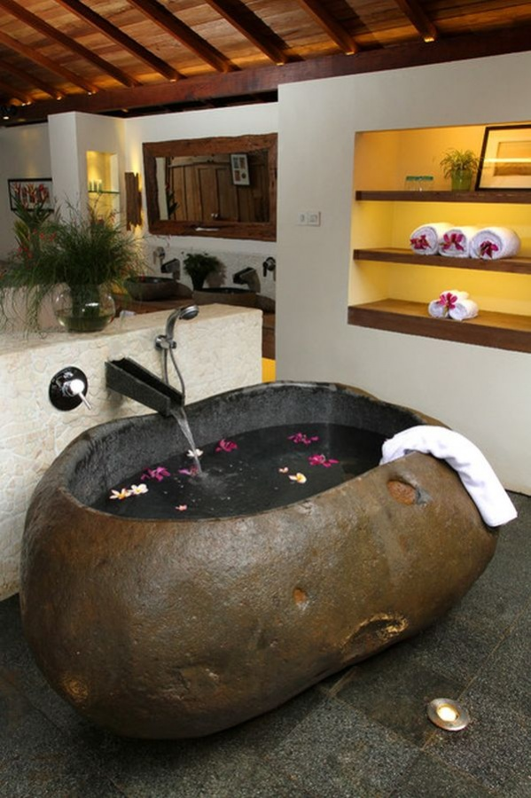 rock-tub 25 Creative and Unique Bathtubs for an Elegant Bathroom
