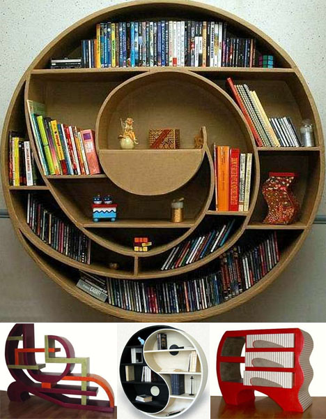 round-strange-bookcase-designs 26 Of The Most Creative Bookshelves Designs