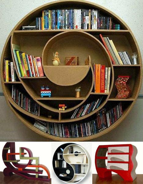 round-strange-bookcase-designs 26 Of The Most Creative Bookshelves Designs