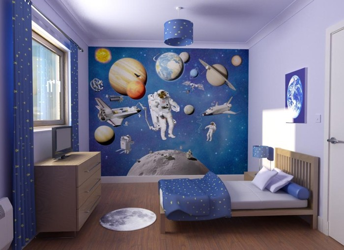 space-adventure Create A Colorful Atmosphere In Your Kids Room By Wallpaper