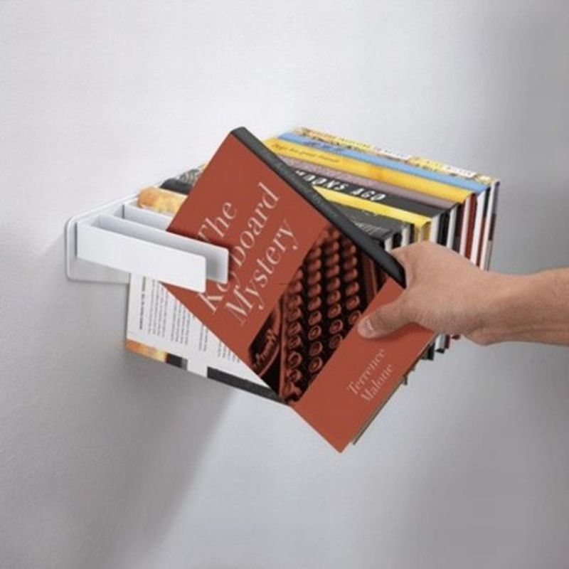 space-saving-bookshelves 40 Unusual and Creative Bookcases