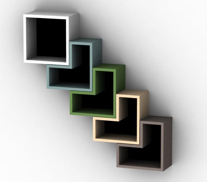 square-design-Unique-bookcase- 40 Unusual and Creative Bookcases