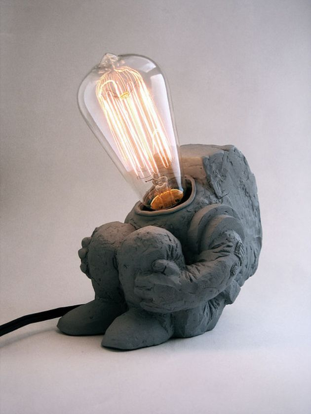 stone-man 30 Most Creative and Unusual lamp Designs