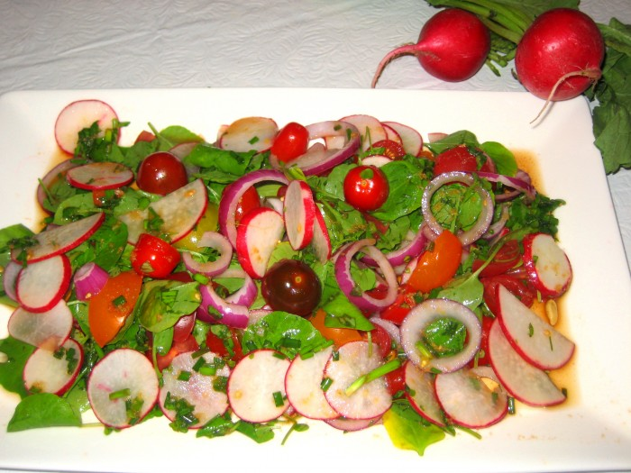 summer_radish_watercress_tomato_salad_with_lime_ginger_soy_dressing_5-24-2012 For Health Seekers, Watercress Has Bountiful Health Benefits