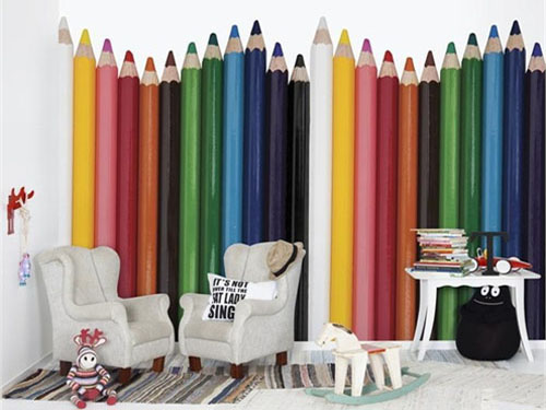 teenage-bedroom-design-modern-wallpaper-for-kids-1 Create A Colorful Atmosphere In Your Kids Room By Wallpaper