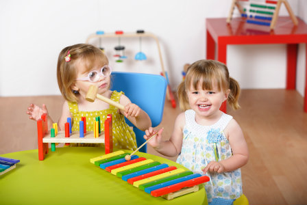 toddlers-with-learning-toys Learning Early Is Always Best, So Pick Up An Educational Toy For Your Kid