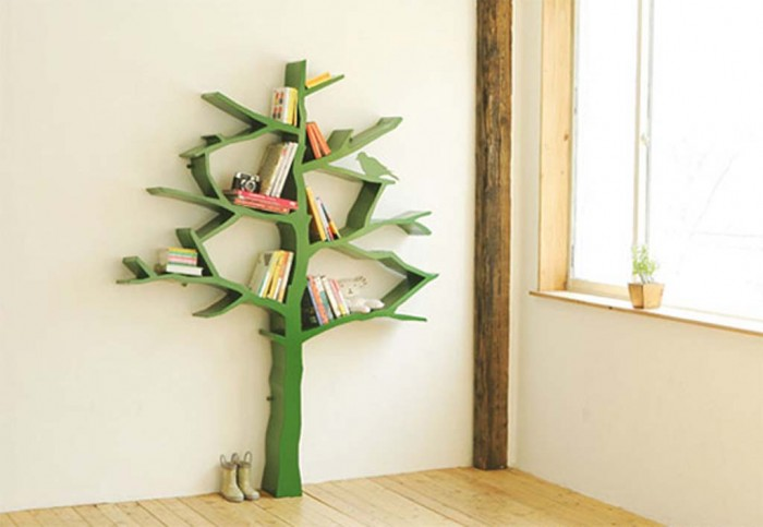 tree-shaped-bookcase 26 Of The Most Creative Bookshelves Designs