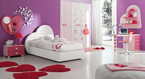 valentine-day-bedroom-decorating-love-wallpapers1 Modern Ideas Of Room Designs For Teenage Girls