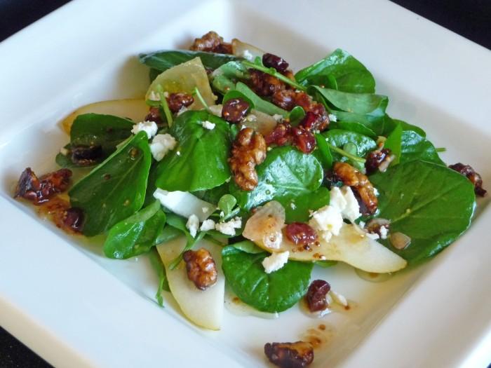 watercress-endive-pear-glazed-walnut-salad For Health Seekers, Watercress Has Bountiful Health Benefits