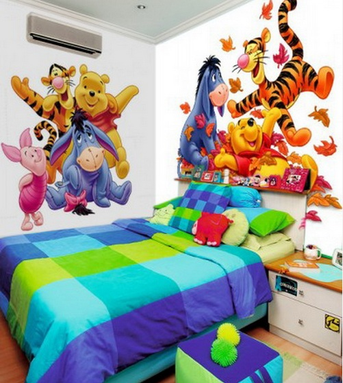 winnie-the-pooh-wallpaper-mural-for-kids-bedroom Create A Colorful Atmosphere In Your Kids Room By Wallpaper