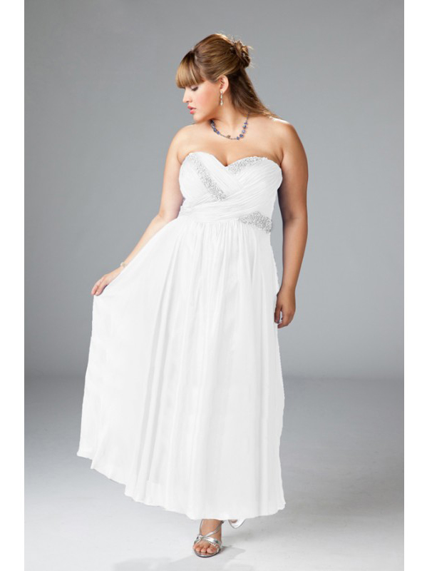 wpd-2125_attractive_a-line_sweetheart_beaded_and_sequined_short_chiffon_plus_size_wedding_dresses_under_200 Tips To Choose The Perfect Plus Size Bridal Dress...