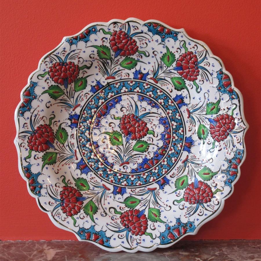 0000663_style_680_turkish_iznik_ceramic_plate 20 Wonderful Designs Of Ceramic Plates