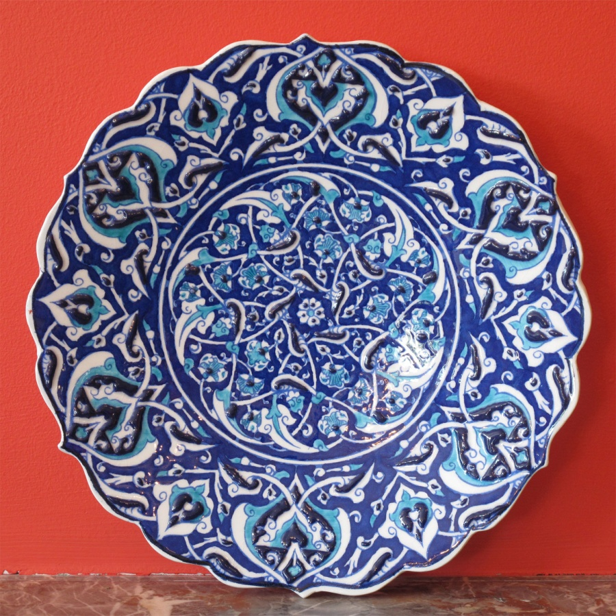 0000666_style_682_turkish_iznik_ceramic_plate 20 Wonderful Designs Of Ceramic Plates