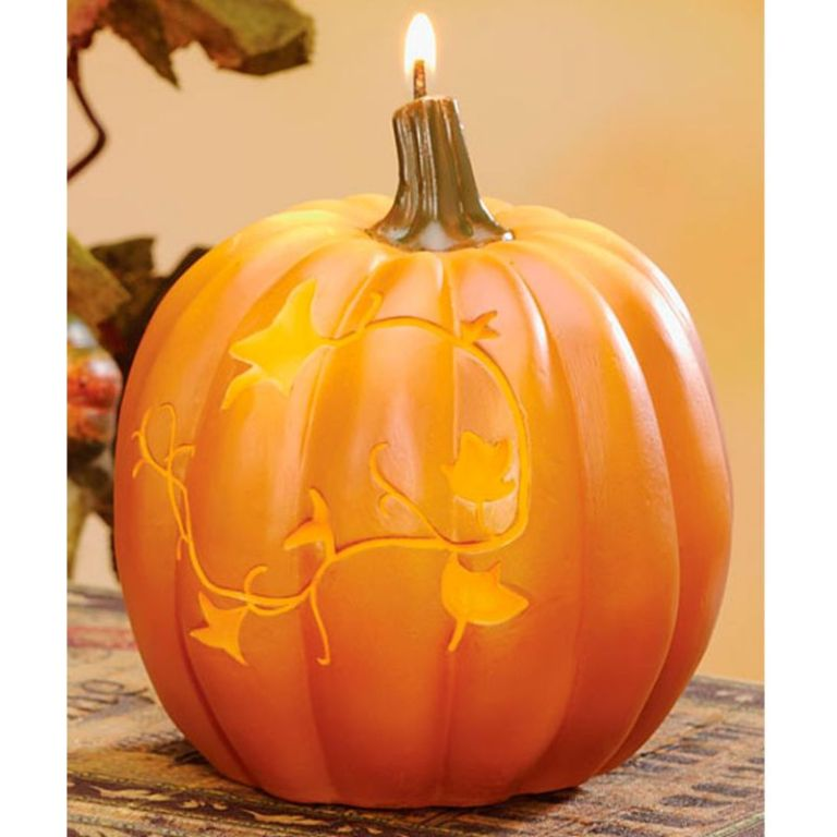 2-autumn-orange-pumpkin-spice-scented-and-shaped-candles-with-leaf-design-5-3 10 Autumn Gift Ideas for Inspiring You