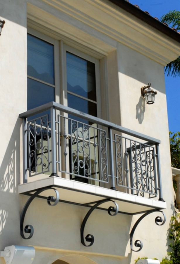 2 balcony juliette wrought iron porch steel balcony for Best house balcony design
