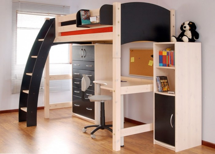 216-black-loft-beds-for-boys Make Your Children's Bedroom Larger Using Bunk Beds