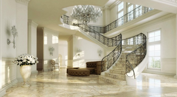 6-Grand-sweeping-staircase Make Your Home Look Like a Palace