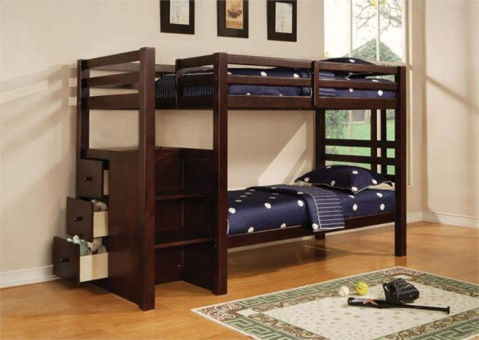 AC10180EspressoTwinBunkBed Make Your Children's Bedroom Larger Using Bunk Beds