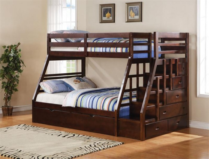 AC37015TwinFullBunkBedStairs Make Your Children's Bedroom Larger Using Bunk Beds