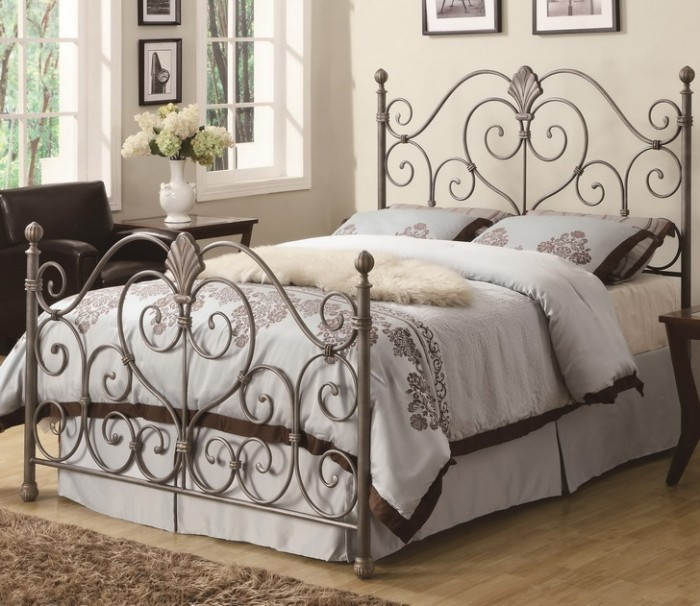 Bedroom-Decorating-Ideas-Metal-Bed-Frame Luxury Designs For Beds Made Of Metal