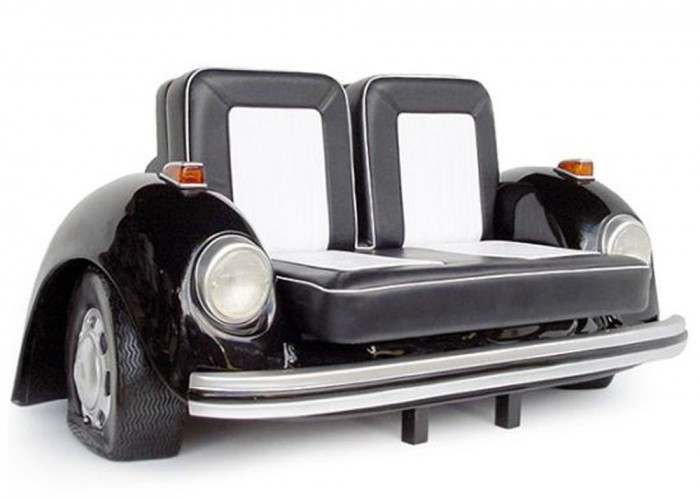 Black-Volkswagen-Beetle-sofa 50 Creative and Weird Sofas for Your Home