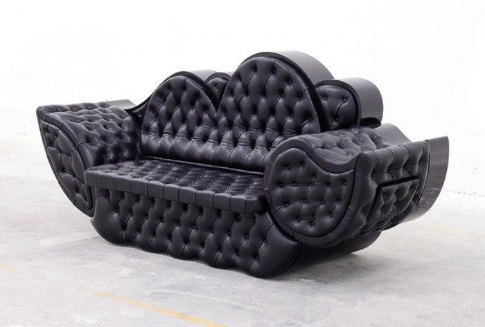 Black-sofa-design 50 Creative and Weird Sofas for Your Home