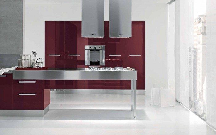 Bordeaux-Modern-Kitchen-Gallery-Design 45 Elegant Cabinets For Remodeling Your Kitchen