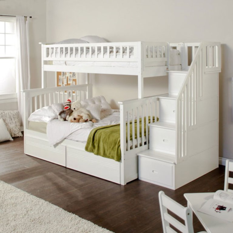 Bunk-Bed-with-Stairs Make Your Children's Bedroom Larger Using Bunk Beds