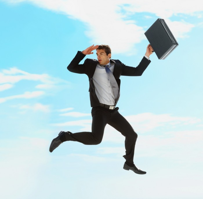 Businessman-Jumping Get Full Control of Your Brain's Potential