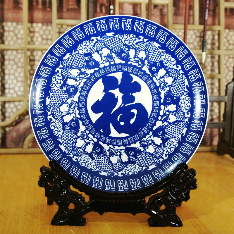 Ceramics-plate-bone-font-b-china-b-font-decoration-plates-font-b-painting-b-font-hanging 20 Wonderful Designs Of Ceramic Plates
