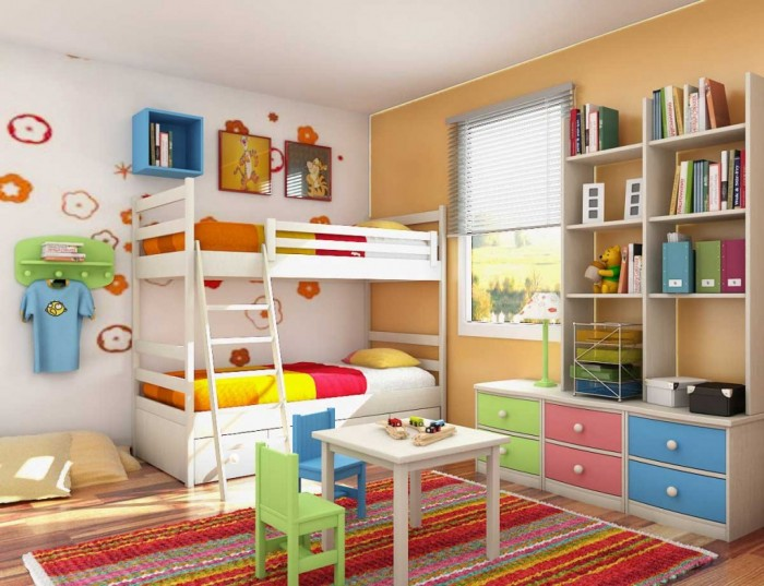 Colorful-Theme-Bedroom-Decorating-Ideas-1024x786 Get A Delight Interior By Applying Some Colorful Designs