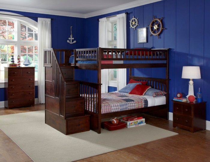Columbia_FF_stair_AW Make Your Children's Bedroom Larger Using Bunk Beds